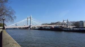 Die Albert Brücke in Chelsea
